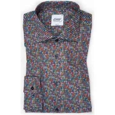 Printed Shirt With Colourful Circles