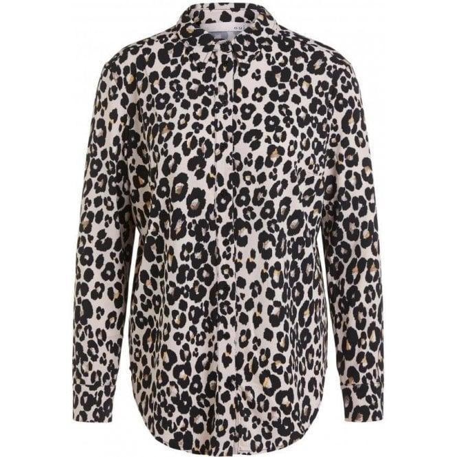 Oui Animal Printed Shirt