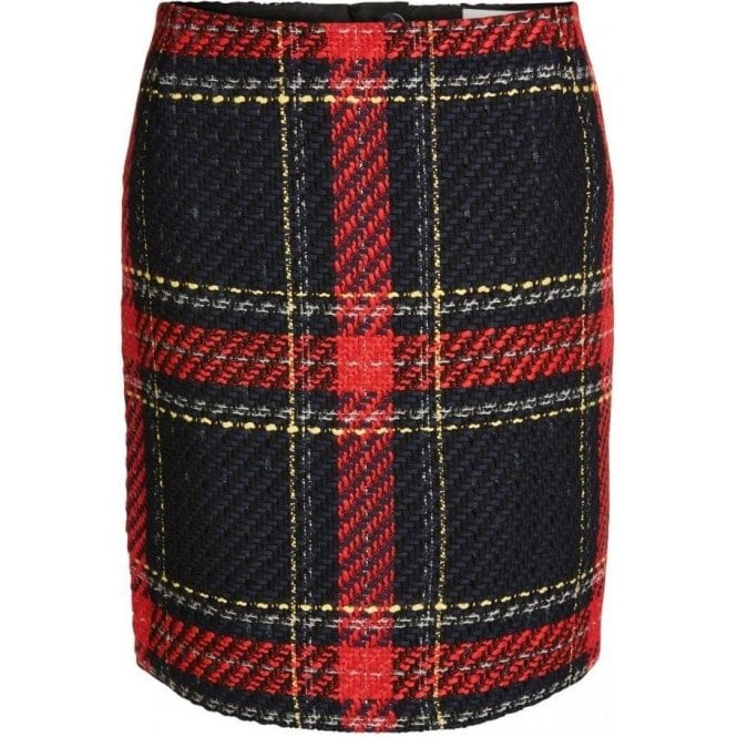 Oui Checked Skirt