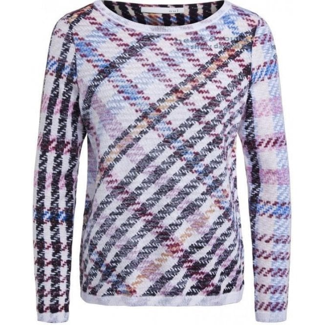 Oui Checked Summer Jumper