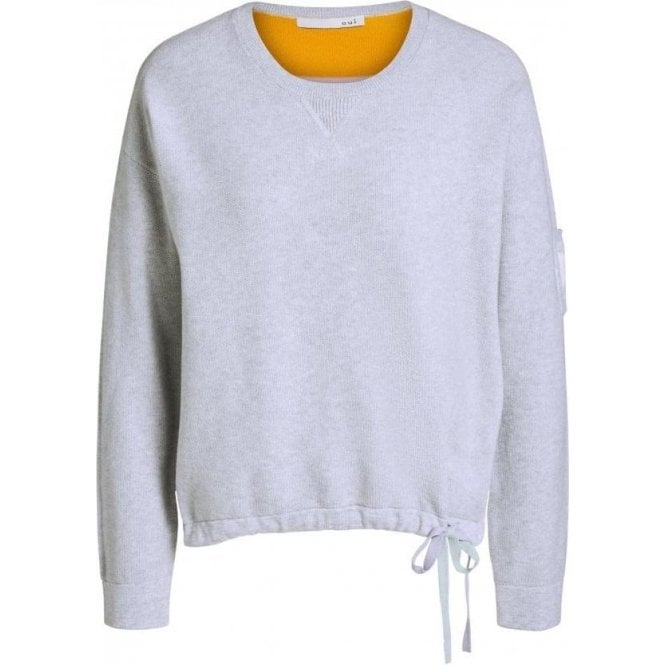 Oui Color Block Knitted Jumper