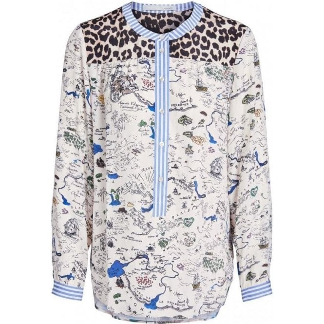 Oui Colourful Printed Blouse