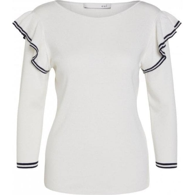 Oui Frill Effect Pullover