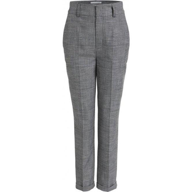 Oui Glen Check Pattern Suit Trousers