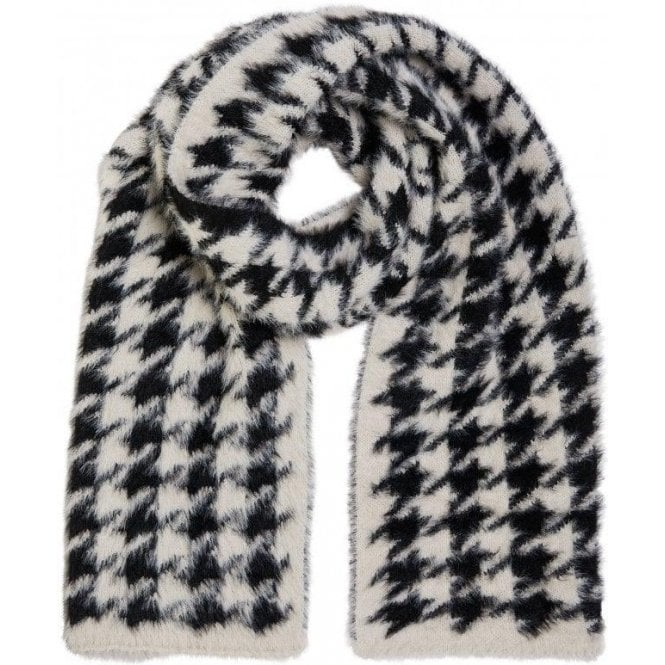 Oui Houndstooth Scarf