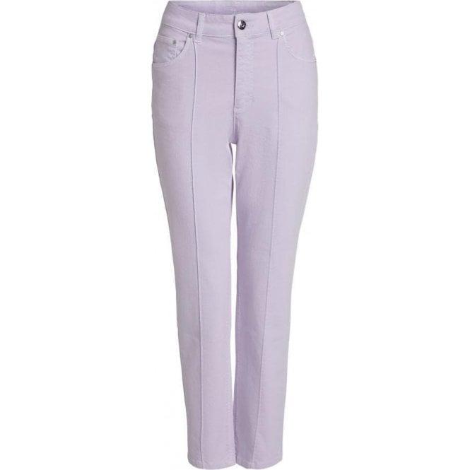 Oui Loose Cut Denim Trousers