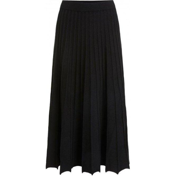 Oui Midi Length Knit Pleat Skirt