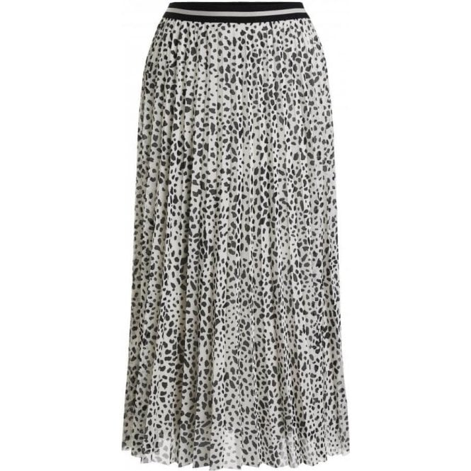 Oui Midi Length Pleated Skirt