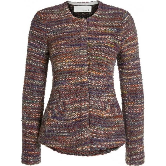 Oui Multi-Coloured Tweed Jacket