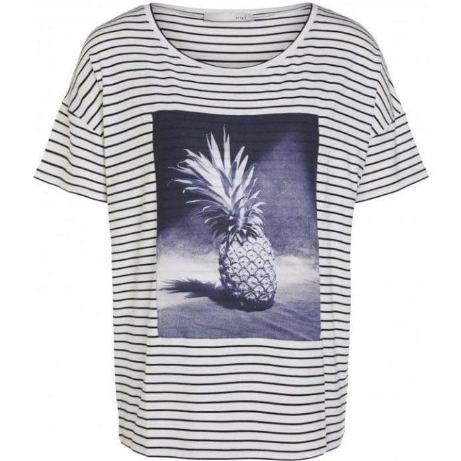 Oui Pineapple Print T-Shirt