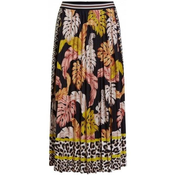 Oui Pleated Midi Skirt