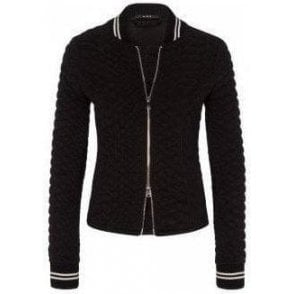 Sporty Sweat Jacket in Textured Fabric