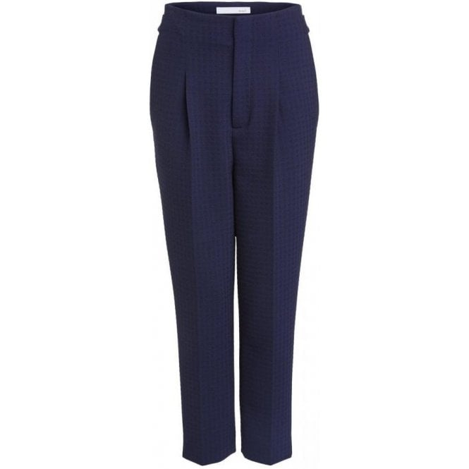 Oui Straight Fit Jacquard Trousers