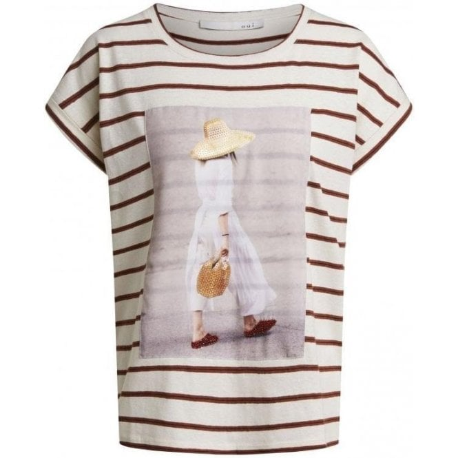 Oui Striped Jersey T-Shirt