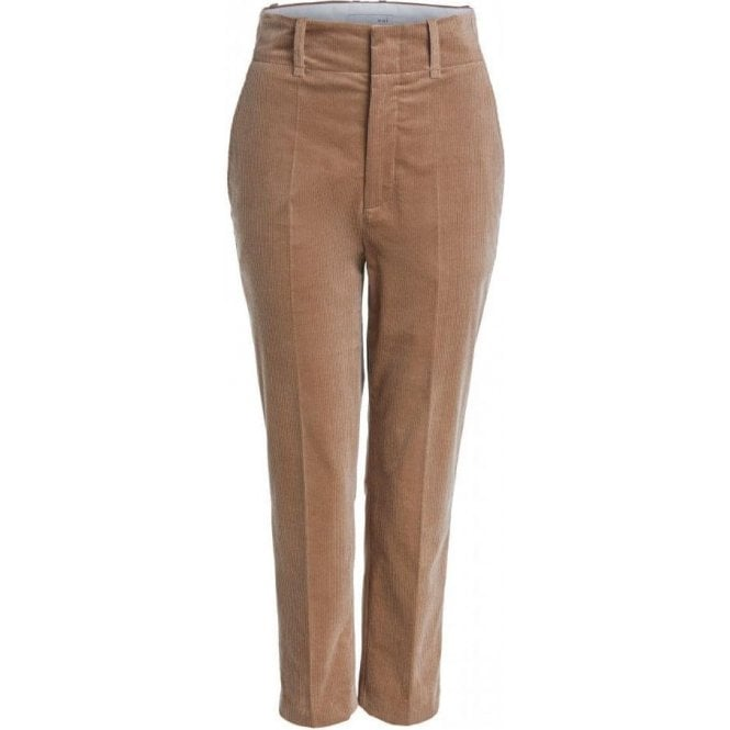 Oui Tailored Fit Corduroy Trousers