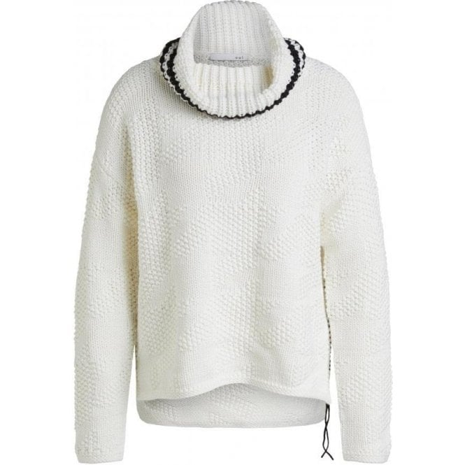 Oui Textured Cowl Neck Sweater
