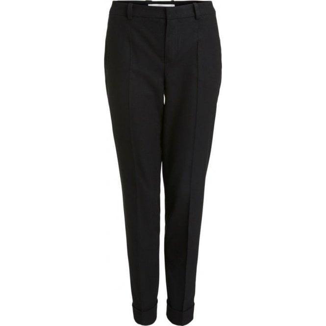 Oui Viscose Blend Suit Trousers