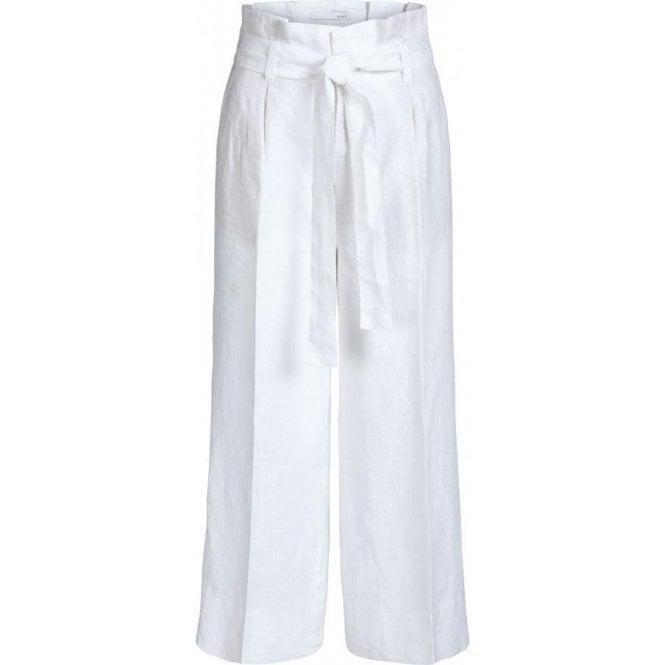 Oui Wide Leg Linen Trousers