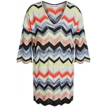 Zig-Zag Design Knitted Tunic