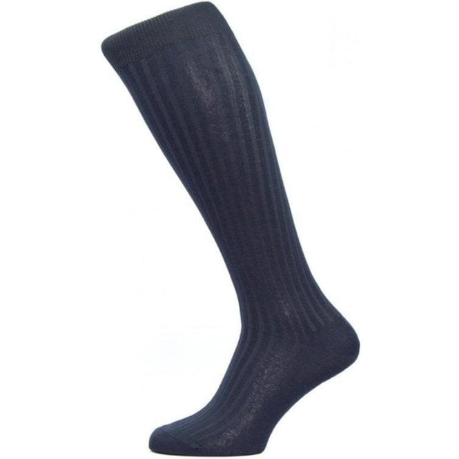 Pantherella Danvers - Long Socks (Over The Calf) - 5x3 Rib - Cotton Lisle Socks
