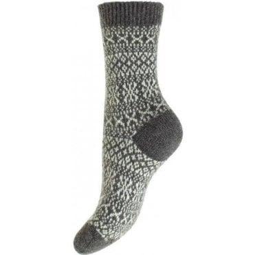 Faith - Winter Fairisle - Cashmere Women's Luxury Socks