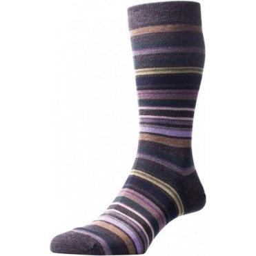 Quakers ~ All Over Stripe - Merino Wool