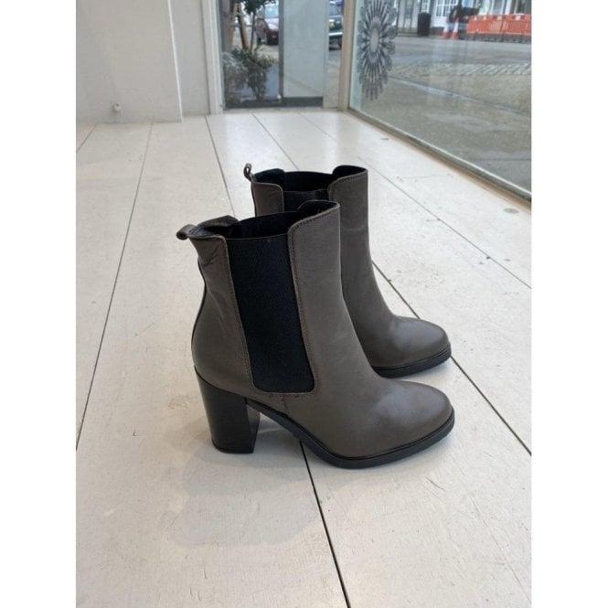 Paola Ferri Grey High Heel Ankle Boot