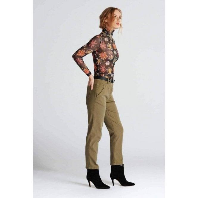 Pom Amsterdam Alexa Khaki Green Pants