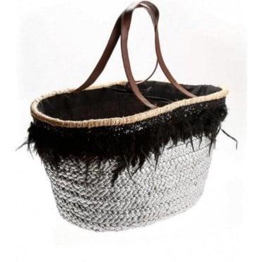 Silver Feather Beach Bag
