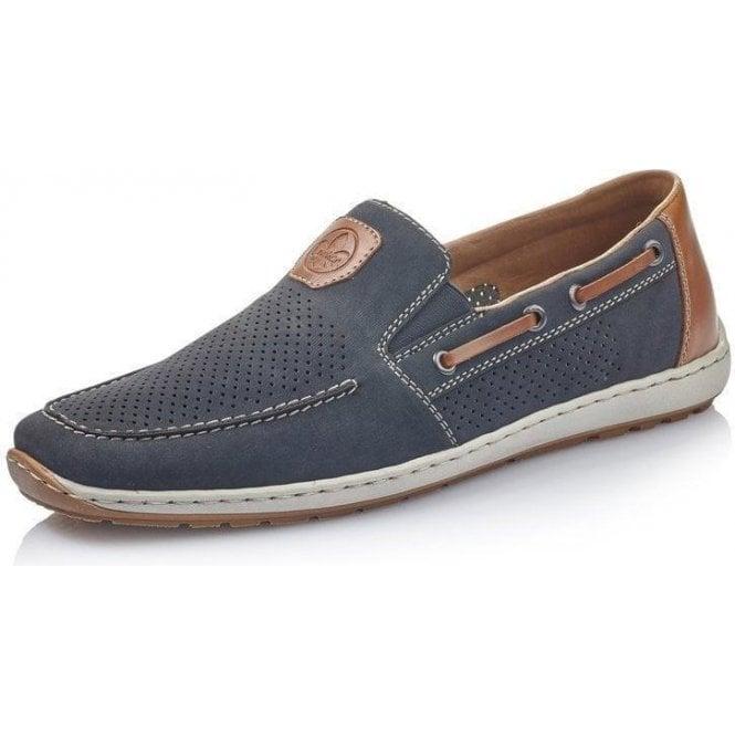 Rieker 08866-15 Men's Blue Slip On Shoes