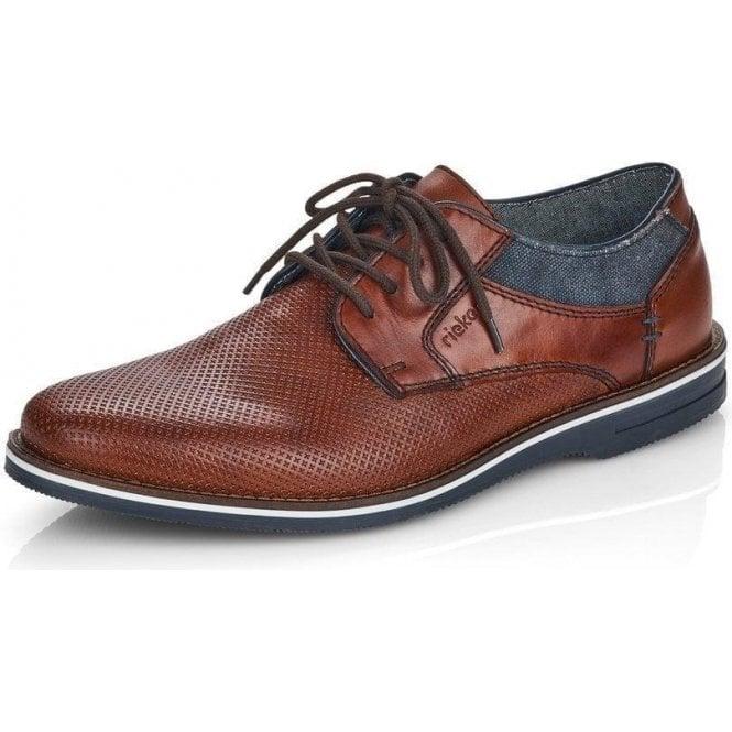 Rieker 12509-24 Men's Brown Lace Up Shoes