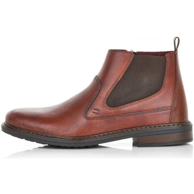 Rieker 37662-24 Men's Brown Zip Up Ankle Boots