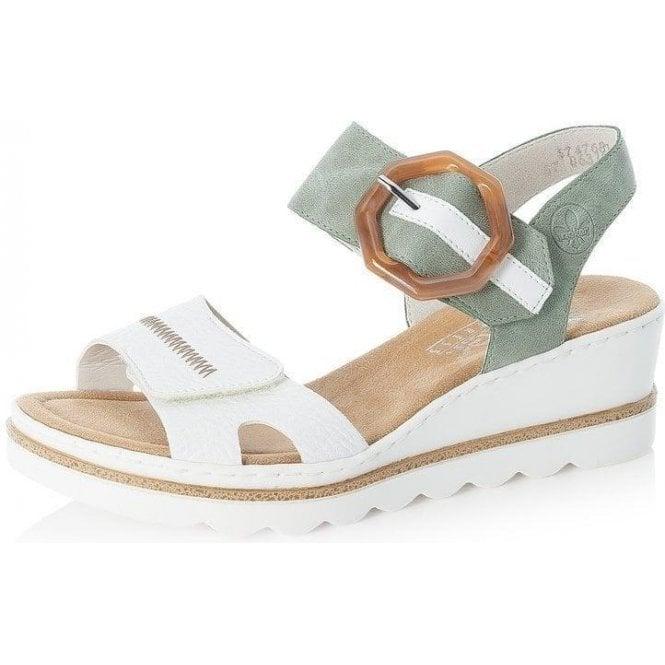Rieker 67476-81 Ladies White Combination Fastener Sandals