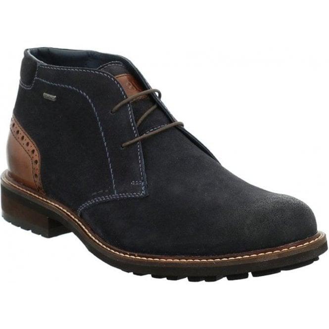 Rieker B1340-01 Men's Black Lace Up Ankle Boots