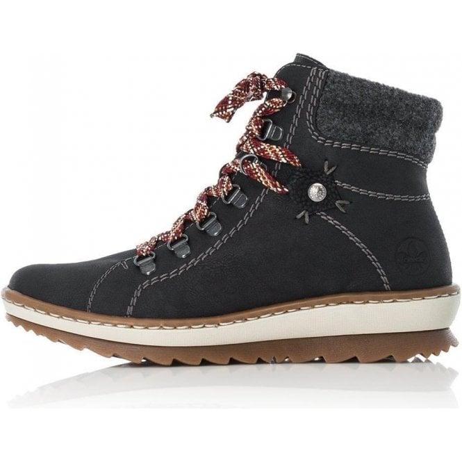 Rieker Z8609-00 Ladies Black Boots