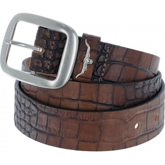 RM Williams Croc Print Belt