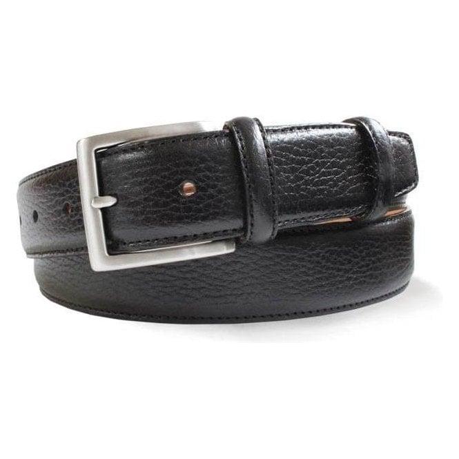 Robert Charles Grained Leather Belt