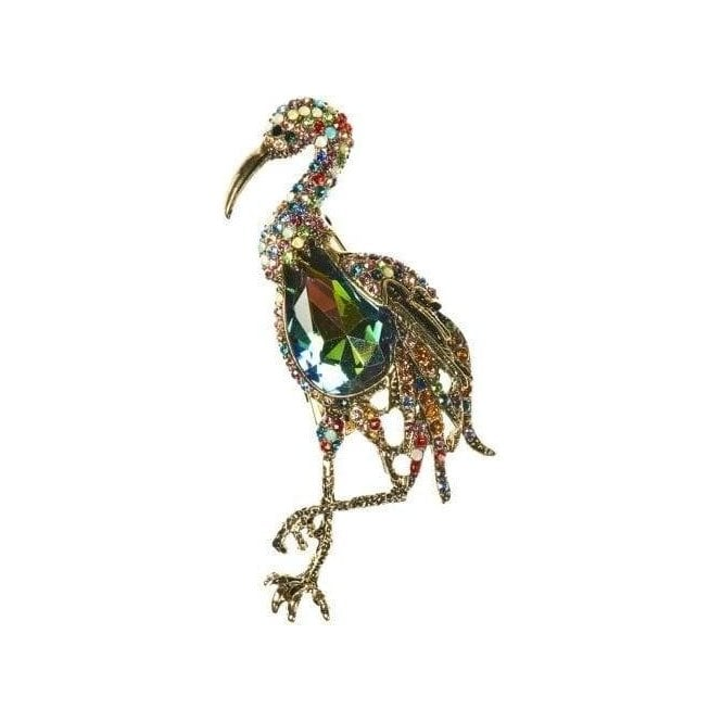 Rosie Fox Dignified Stork Hairclip & Brooch
