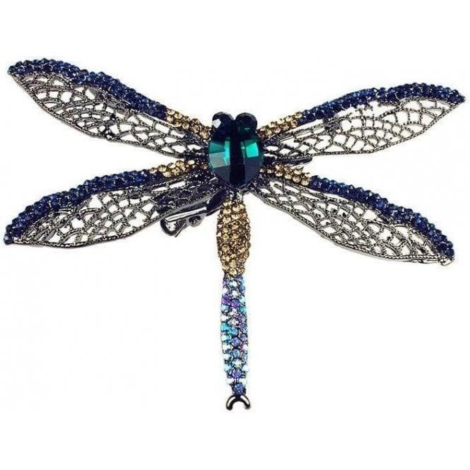 Rosie Fox Oceana Dragonfly Hairclip Brooch