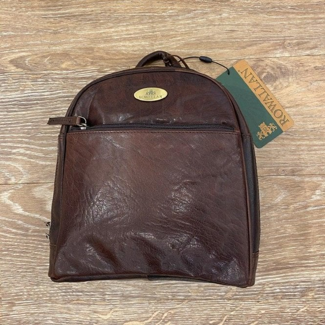 Rowallan Harrow Round Top Leather Backpack