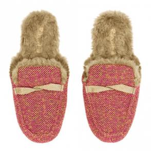 Golden Twist Tweed Loafer