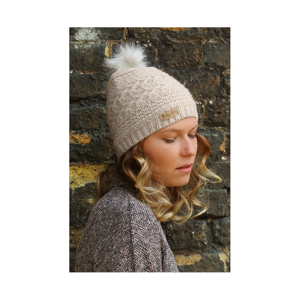 ca8440230a2 Ruby   Ed Nougat Arctic Fox pom beanie - Women Latest Products ...