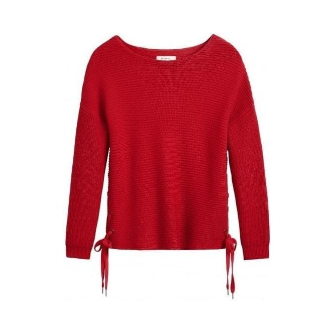 Sandwich Lace-up sides Sweater