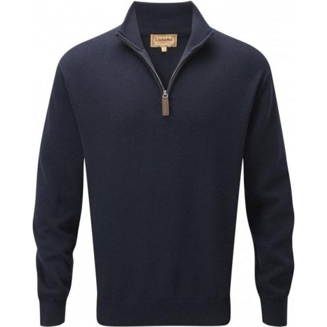 Schöffel Cashmere/Cotton 1/4 Zip Jumper