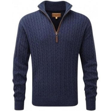 Cashmere/Cotton Cable 1/4 Zip