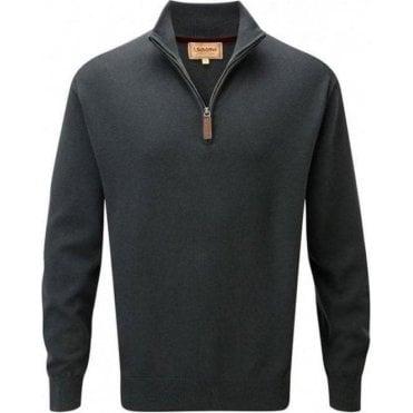 Cashmere/Cotton 1/4 Zip Jumper
