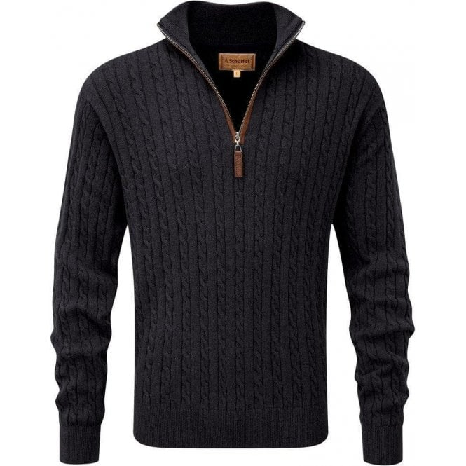 Schoffel Cashmere/Cotton Cable 1/4 Zip