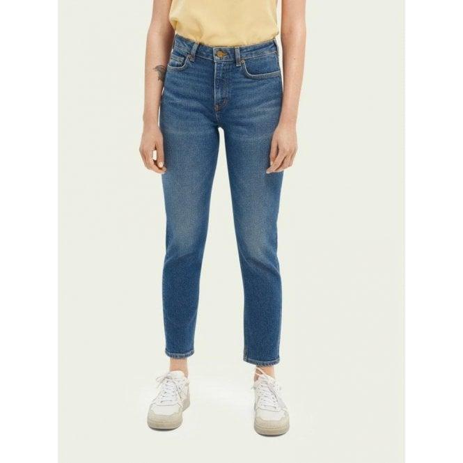 Scotch & Soda Five High-Rise Slim-Leg Jeans — Sea Washed