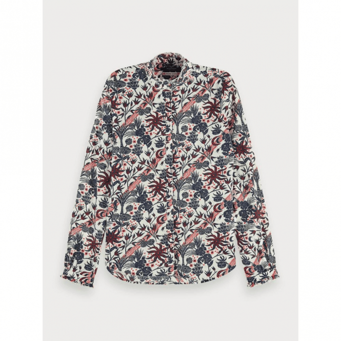 Scotch & Soda Long Sleeve Sustainable Cotton Shirt