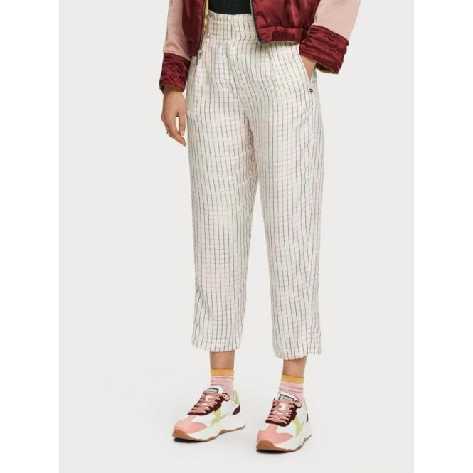 Scotch & Soda Space Dye Checked Trousers